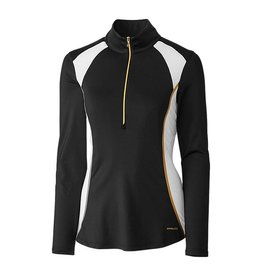Annika Annika Strategy Gold Half Zip Long Sleeve Black