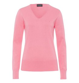 Golfino Golfino Pima Cotton V-Neck Strawberry