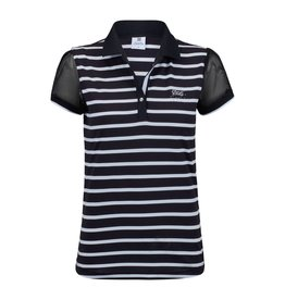 Daily Sports Daily Sports Connie Cap Sleeve Polo Black