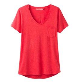 prAna Foundation Short Sleeve Tee Carmine Pink