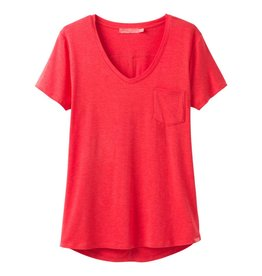 prAna prAna Foundation Short Sleeve Tee Carmine Pink