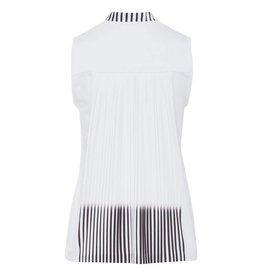 Golfino Golfino Pleated Back Sleeveless Top Optic White