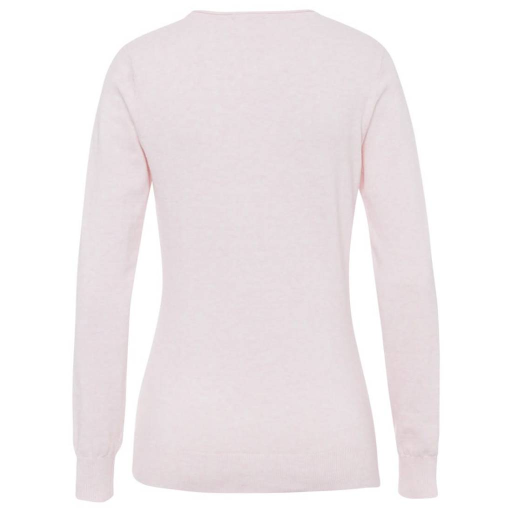 Golfino Golfino Pima Cotton V-Neck Rose