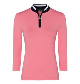 Golfino Dry Comfort 3/4 Sleeve Troyer Strawberry