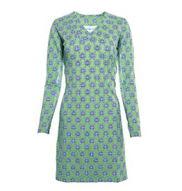 IBKul IBKul Aida V-Neck Dress Green/Blue