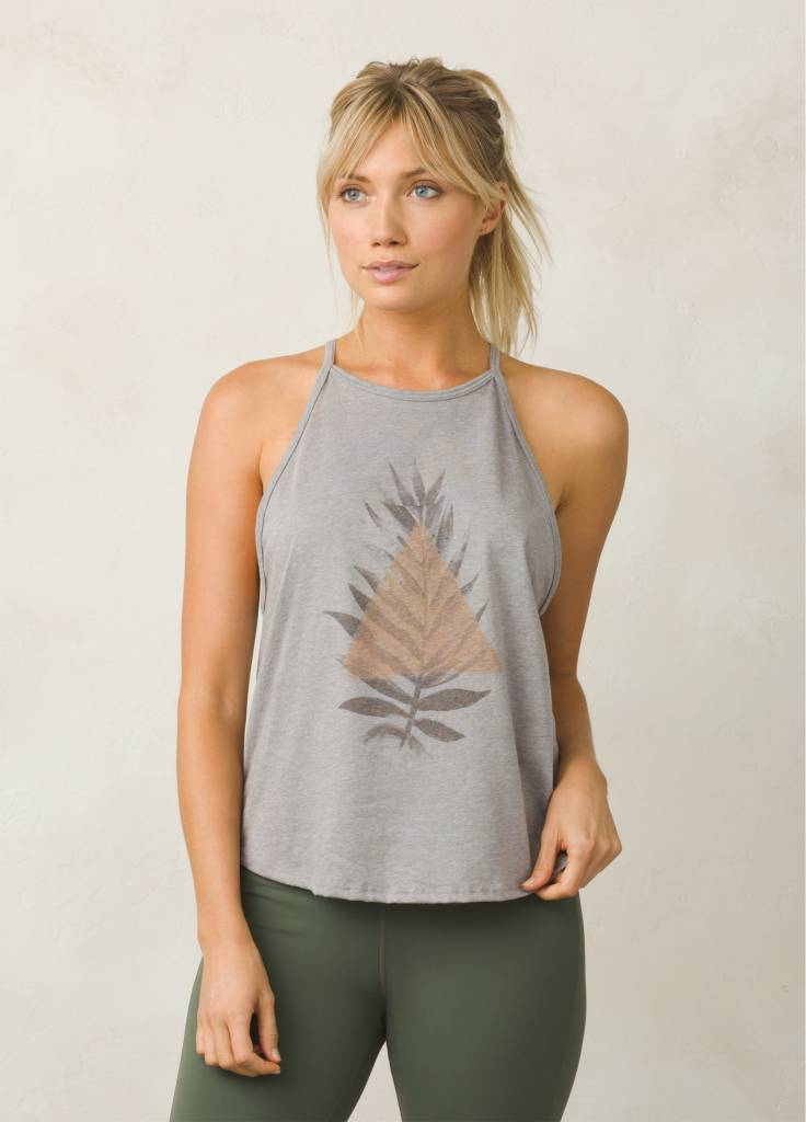 prAna prAna Graphic You Tank Heather Grey