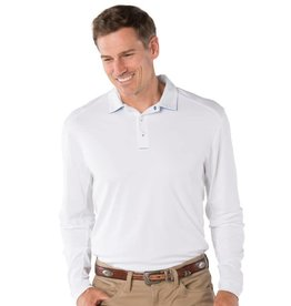 IBKul IBKul Solid Long Sleeve Polo White