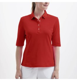 Nivo Nivo Nina Elbow Sleeve Polo Red