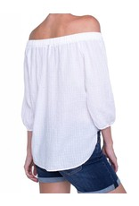 Liverpool Jeans Liverpool Jeans Off the Shoulder Shirt White