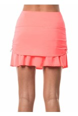 Lucky In Love Lucky in Love Ruched Tier Skort Lava