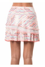 Lucky In Love Lucky In Love Ecstatic Pleated Tier Skort Lava