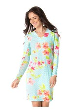 IBKul IBKul Ashley V-Neck Dress Seafoam