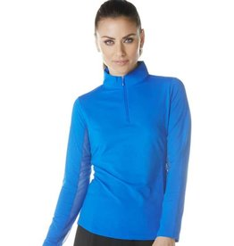 IBKul IBKul Solid Long Sleeve Mock Royal