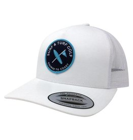 Surf & Turf Golf Surf & Turf Golf Course to Coast 7 Hat White
