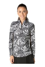 IBKul IBKul Pippa Long Sleeve Mock Black/Wht