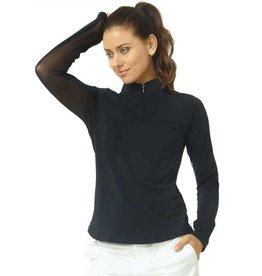 IBKul IBKul Solid Long Sleeve Mock Black
