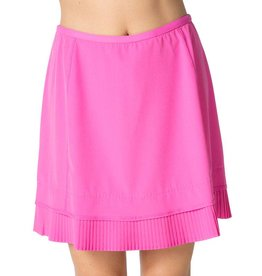 IBKul IBKul Crystal Pleat Skort Hot Pink