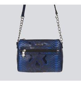 Cutler Bags Cutler Bags Garbo Blue Lizard Purse