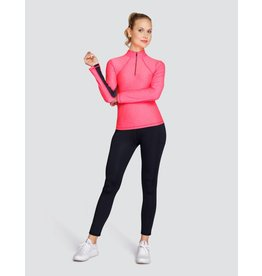 Tail Tennis Tail Chase Long Sleeve Mock Lazer Pink