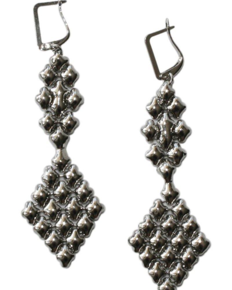 Liquid Metal Chainelier Mesh earrings