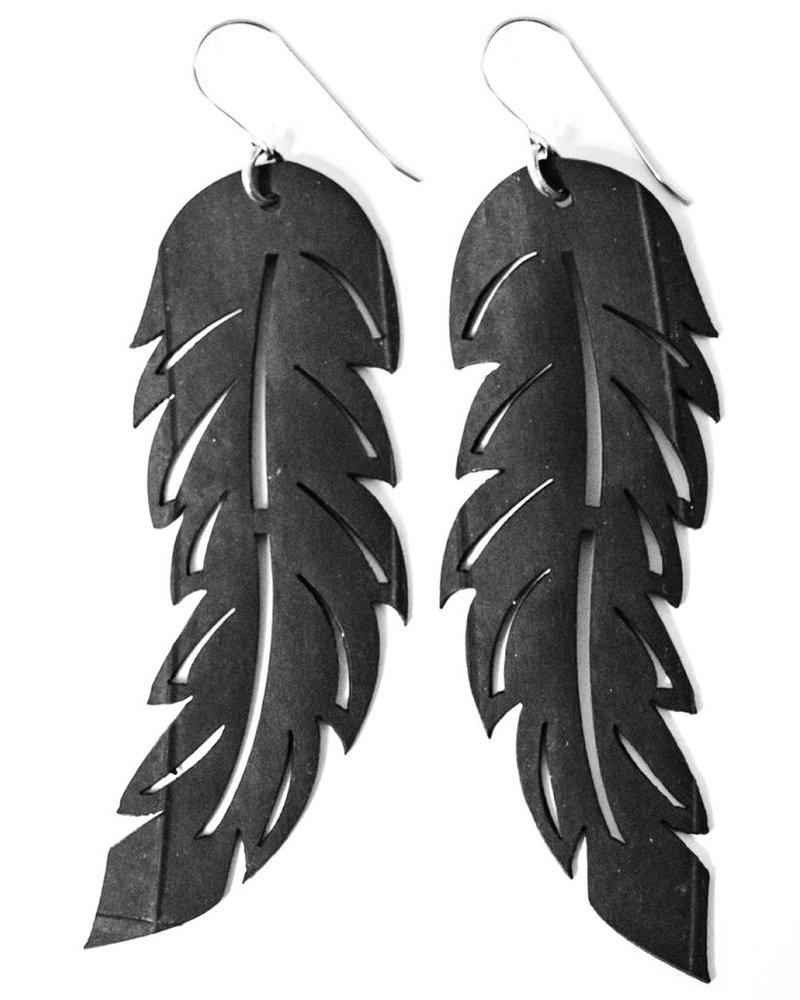 Feather Rubber Earrings