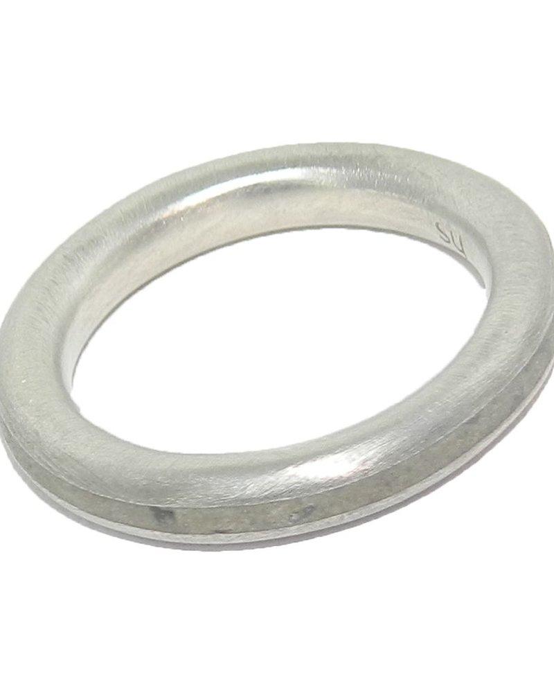 verdigris Hollow Stripe Ring