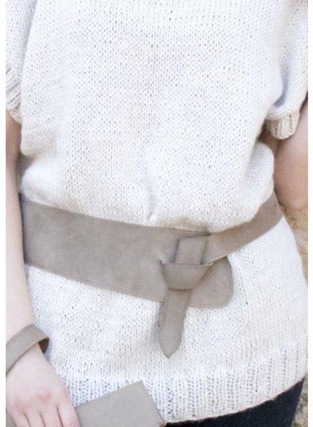 Moche Wide Leather Wrap Belt