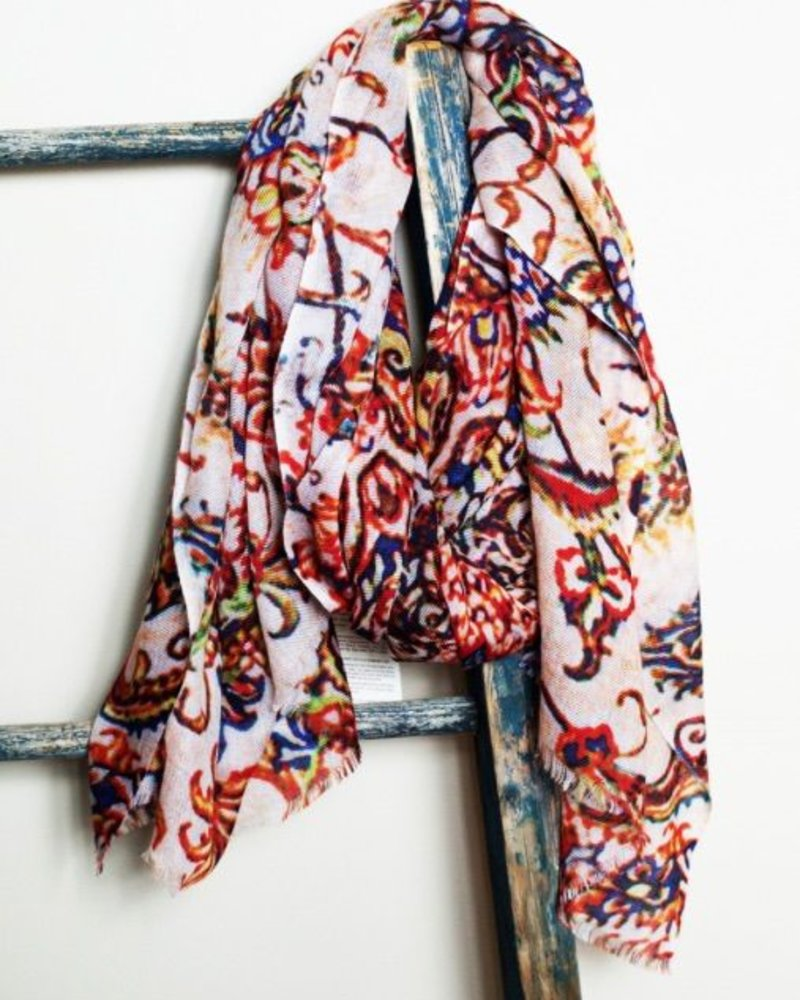 verdigris 100% Cashmere scarf