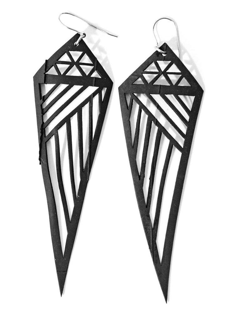 Geometric Rubber Earrings
