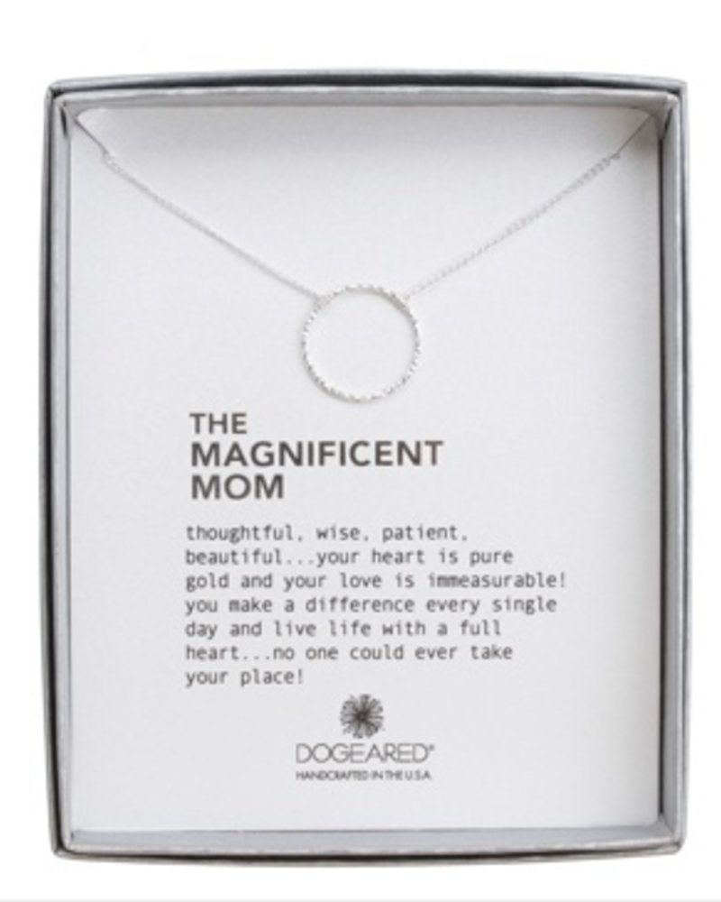 """Dogeared the magnificent mom sparkle karma necklace, sterling silver, 18"""""""