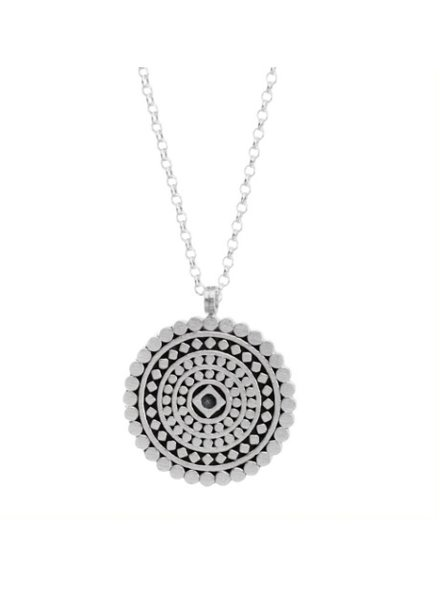 Dogeared the mindful mandala necklace, sterling silver