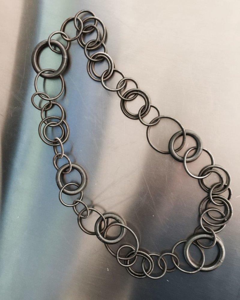 verdigris Slate multi loop necklace necklace