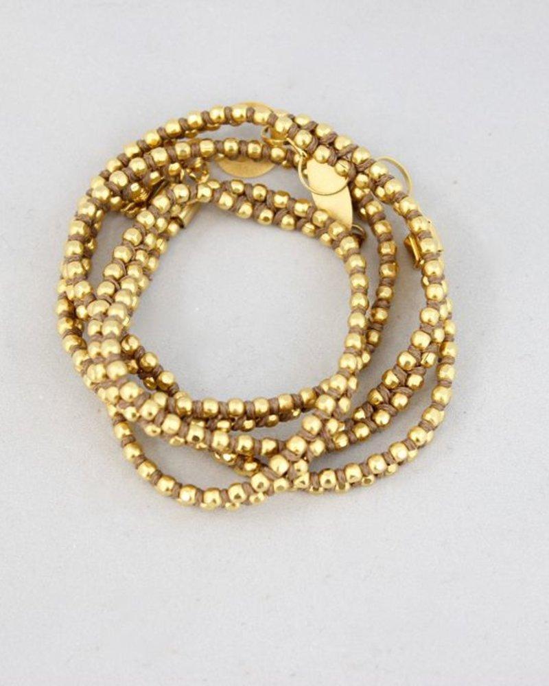 Disc Bracelet, khaki