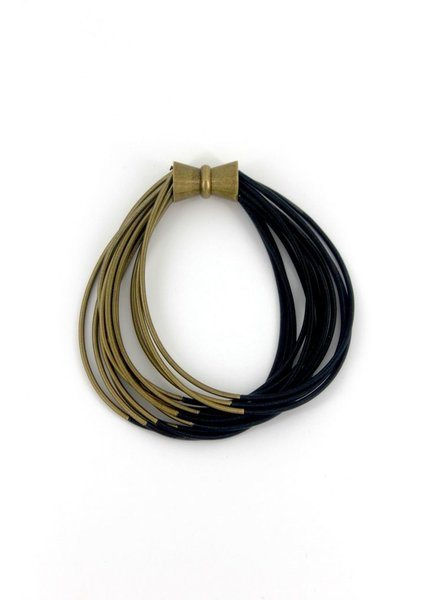 Black & Bronze Two Tone PinoWire Bracelet with Magnet