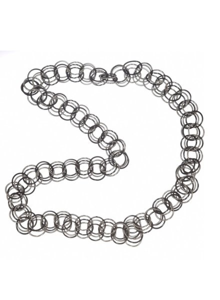 Black and Silver Long Spring Ring Loops