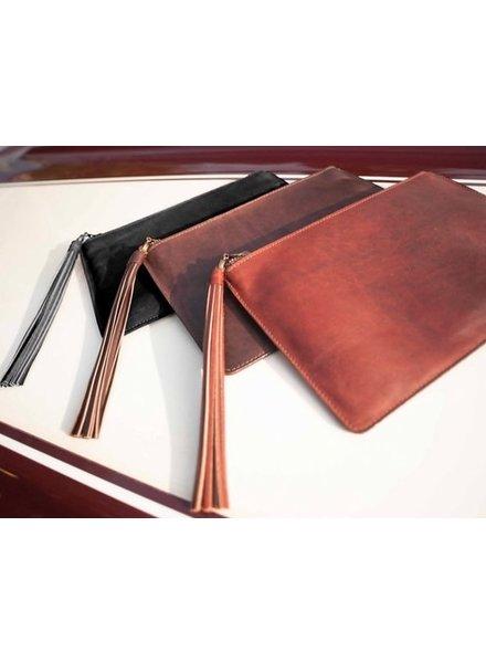 BRAVE Regina leather clutch