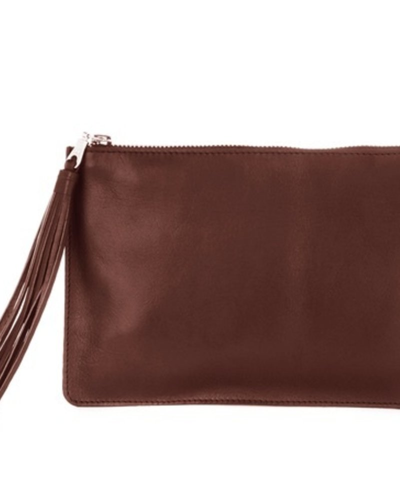 BRAVE Regina leather clutch