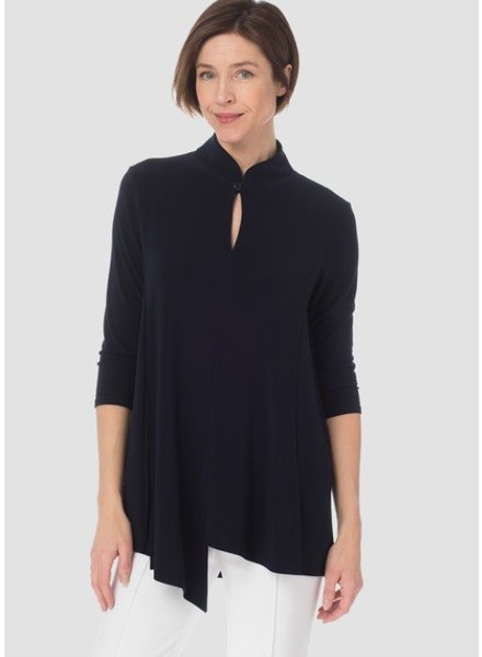 Joseph Ribkoff Three-quarter length sleeves, kerchief hem blouse