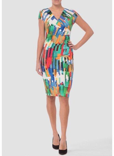 Joseph Ribkoff Wrap multicolored dress