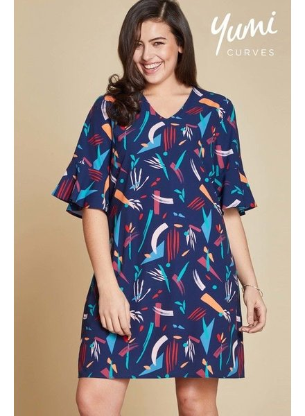 Curves Abstract Strokes Tunic