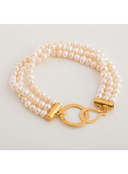 verdigris Triple MOP bracelet