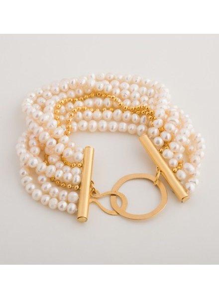 verdigris Multi chain MOP bracelet