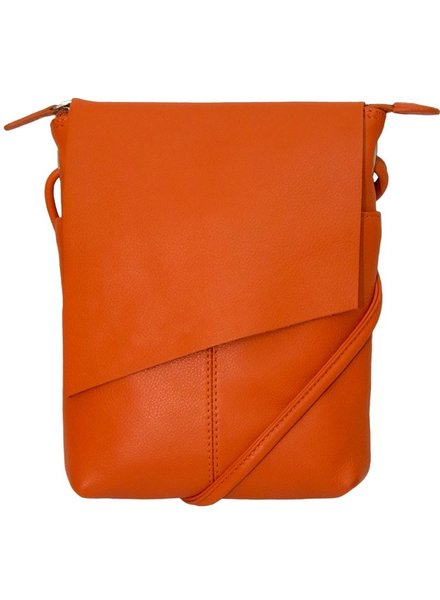 Cross body leather clutch