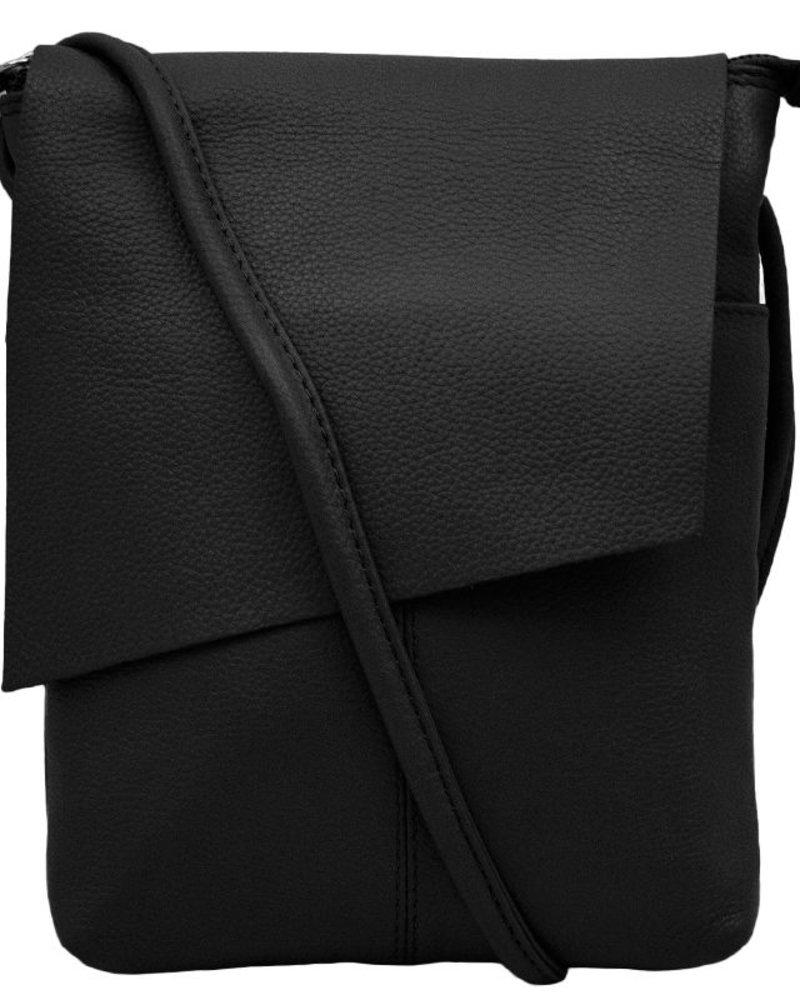 Cross body leather clutch