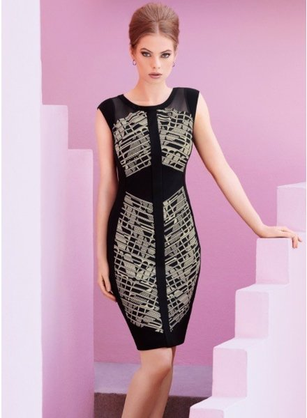 Joseph Ribkoff Cap sleeve sheath dress