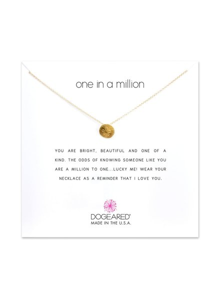 Dogeared One In A Million Gold Necklace