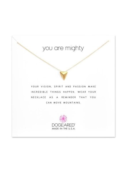 Dogeared You Are Mighty Gold Necklace