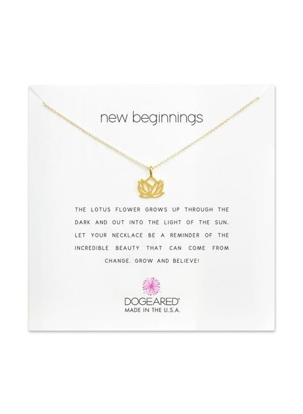 Dogeared New Beginnings Gold Necklace