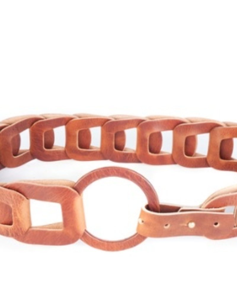BRAVE Inian leather belt, Brandy