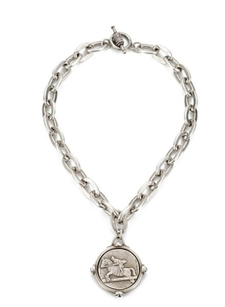 French Kande Lourdes Chain with Cavalier Medallion